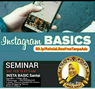 Seminar Insta Basic Santai, Cikgu Ieta, Belajar Instagram, Instagram Basic, Rahsia Sosial Media, SocMed, Social Media