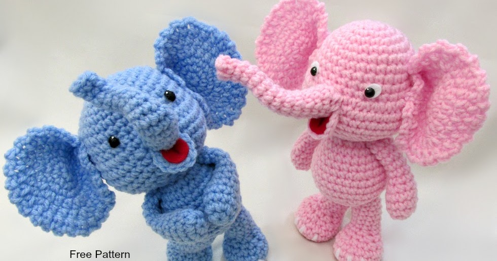Amigurumi Bigfoot Panda : Little Bigfoot Elephant Video and Pattern ~ Amigurumi To Go