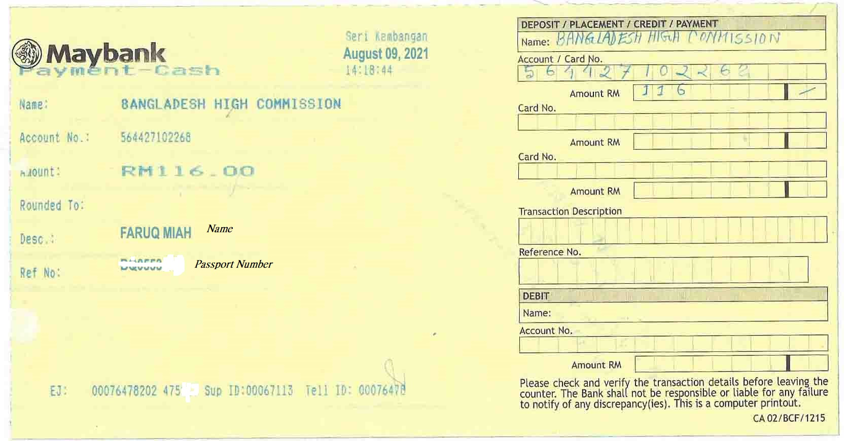 BDhkl Maybank Money deposit