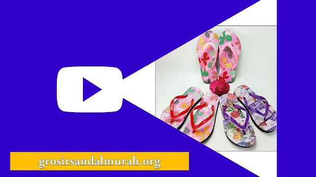 grosirsandalmurah.org - Sandal Anak - AMX Motif Bunga Anak