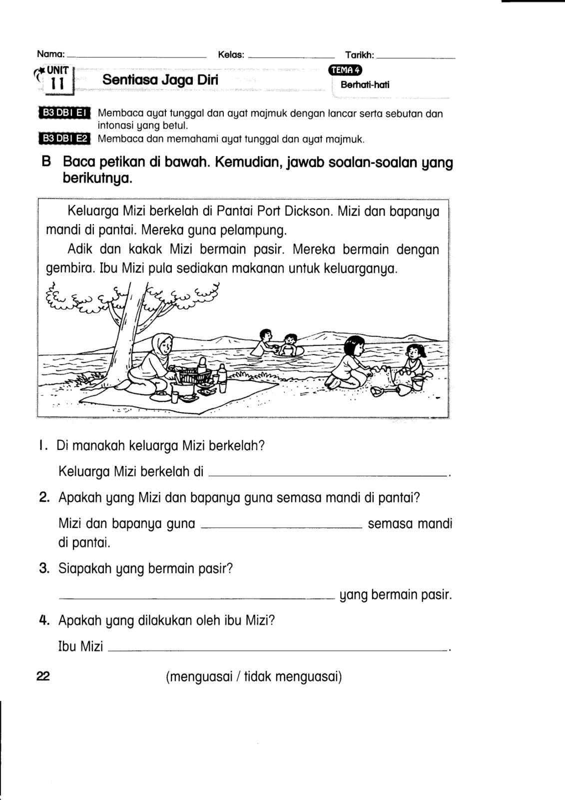 Contoh Soalan Latihan Bahasa Melayu Tahun 5 Soalan Bi