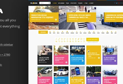 Vloma Grid V.2.5 - A Responsive WordPress Video Blog Theme