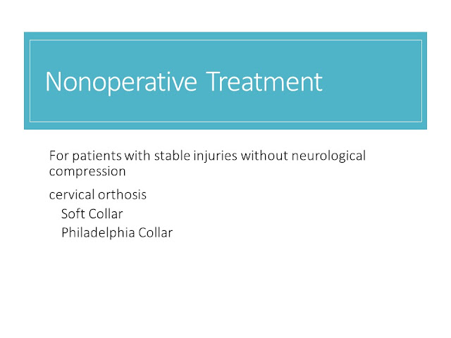Non Operative Management Cervical Spine Injuries