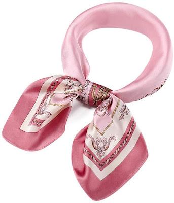 Lovely Pink Silky Satin Scarves