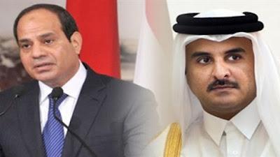 السيسي وتميم بن حمد