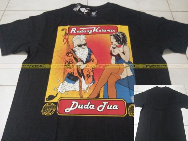 T-Shirt RADANG KELAMIN - Duda tua ( black )