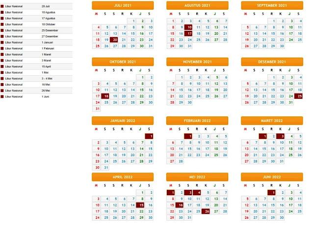 Terbaru Kalender Pendidikan Tahun Pelajaran 2021/2022 Provinsi Kalimantan Tengah