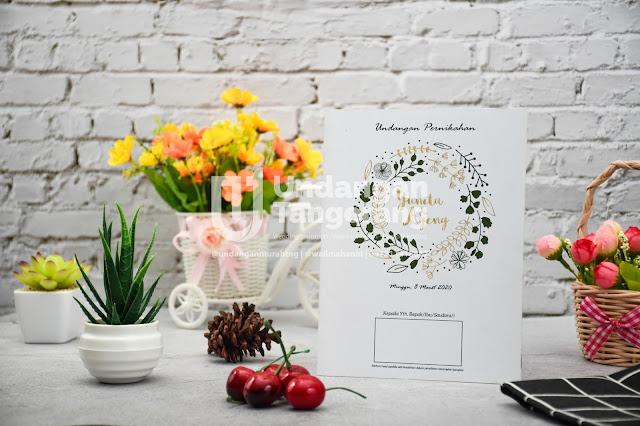Undangan Pernikahan Minimalis di Tangerang - Walimahanid | 0812-1141-8687