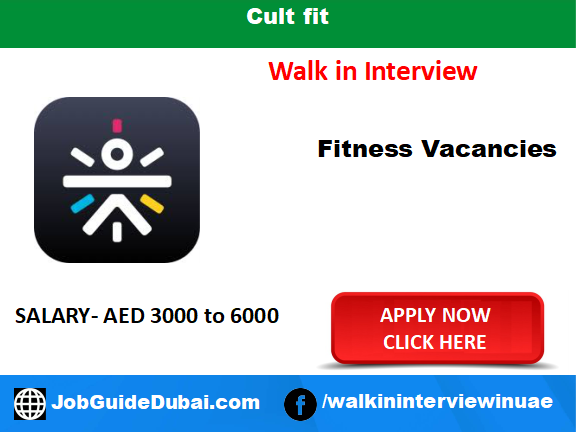Cult fit career for fitness trainer and gym job in Dubai