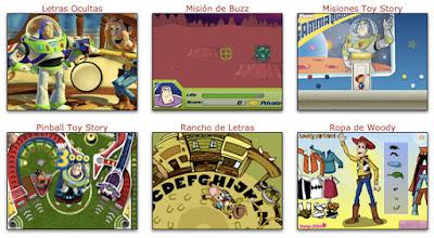 Juegos de toy story gratis