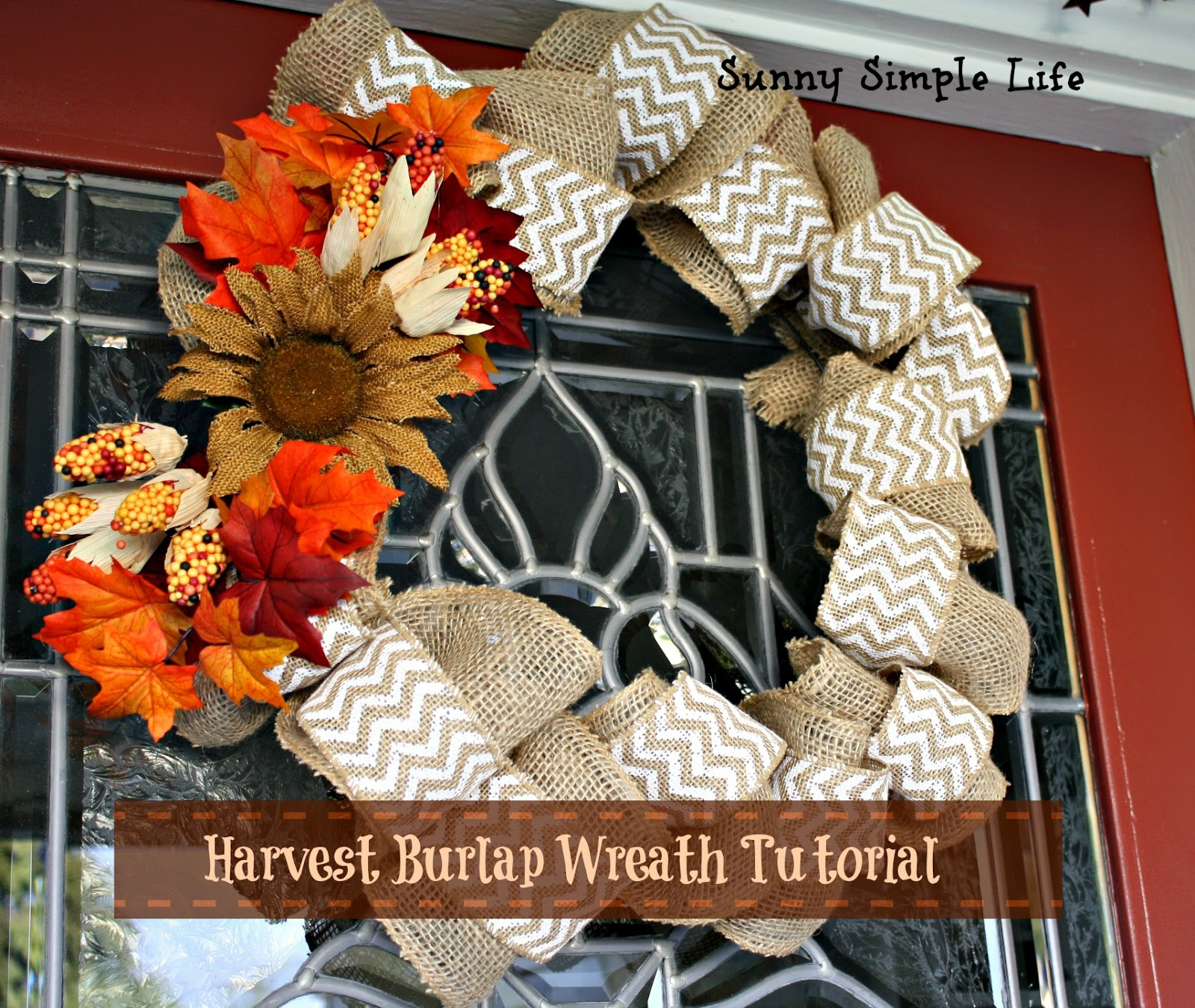 Sunny Simple Life Harvest Burlap Wreath Tutorial
