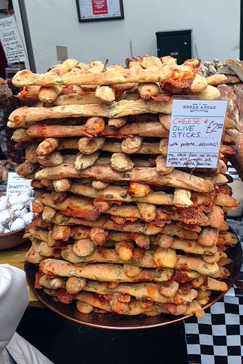 Bread sticks at Borough Market