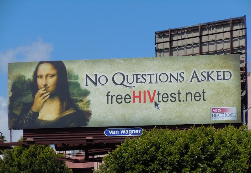 Mona Lisa HIV billboard