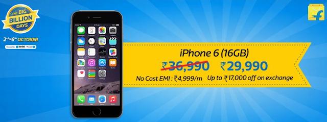 Flipkart The Big Billion Days Sale - Day 2 - Apple iPhones