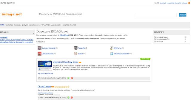 Reedito el directorio de Indaga.net