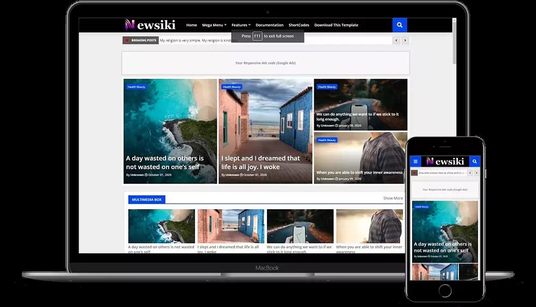 Newssiki - News & Responsive