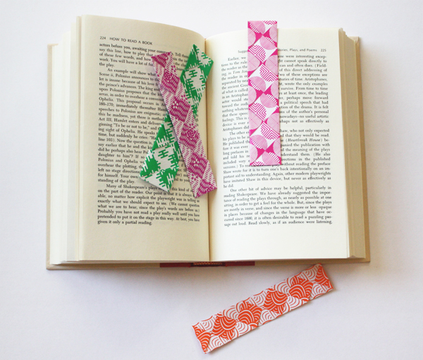 Easy woven origami bookmarks how about orange for Diy bookmarks for guys