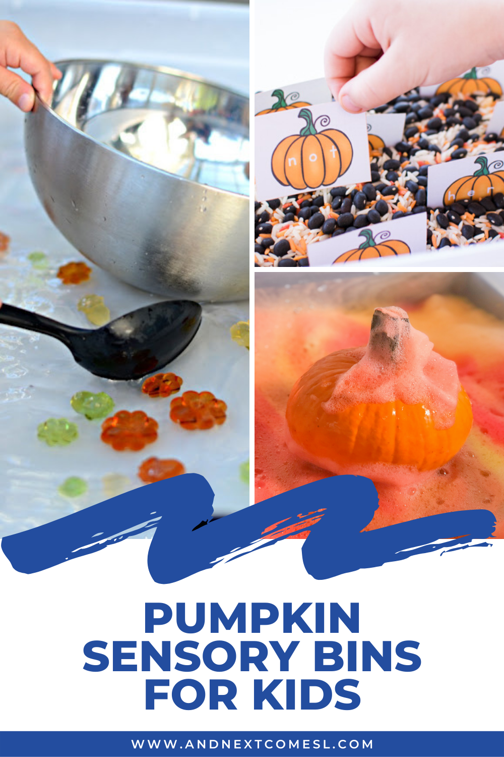 Awesome pumpkin sensory bins for toddlers and preschoolers