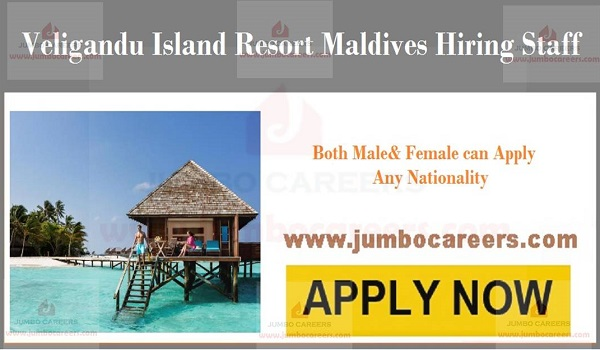 Job Opportunities at Veligandu Island Resort, Latest Resort Jobs in Maldives Hotels