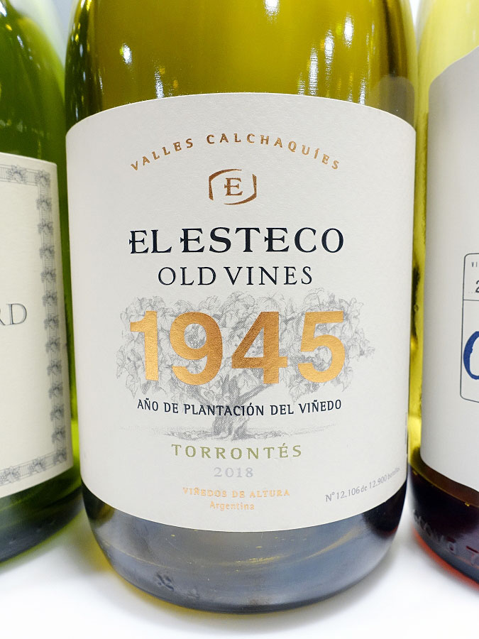 El Esteco 1945 Old Vines Torrontés 2018 (92 pts)