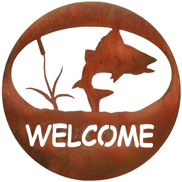 Turning Fish Welcome Circle Wall Decor