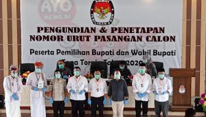 KPU Tana Toraja Gelar Pencabutan Nomor Urut Paslon