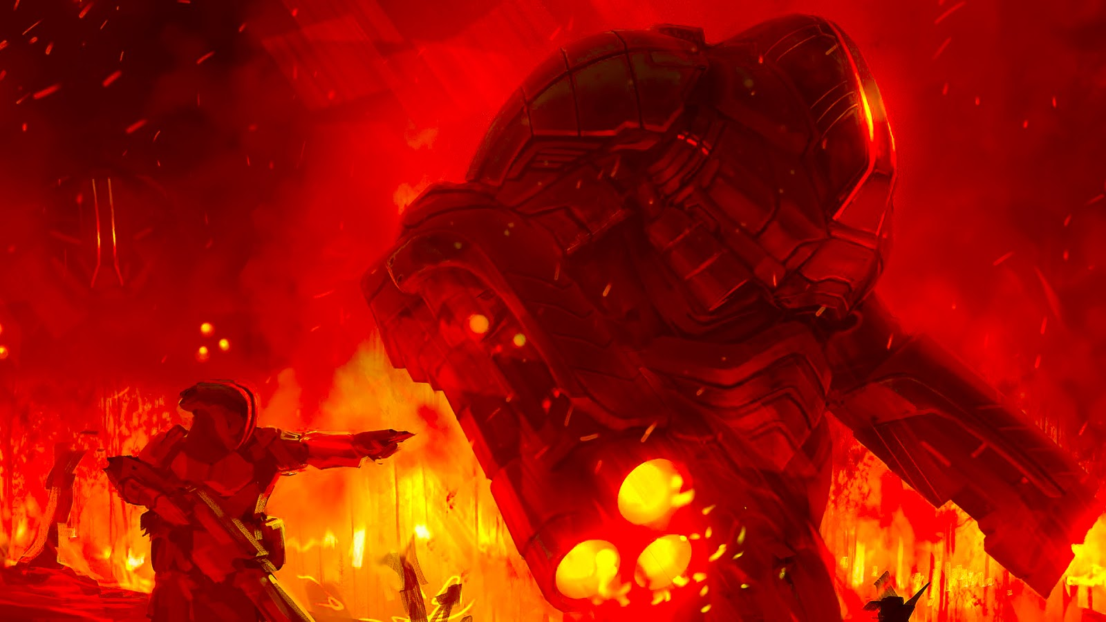 doom wallpaper art in 1920 x 1080 pixels to use as desktop wallpaper