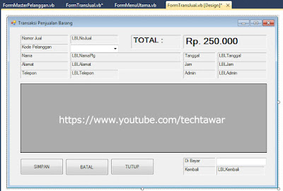 Membuat Aplikasi Penjualan VB .NET Database MySQL - #Part 9