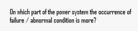 the power system, the occurrence of failure
