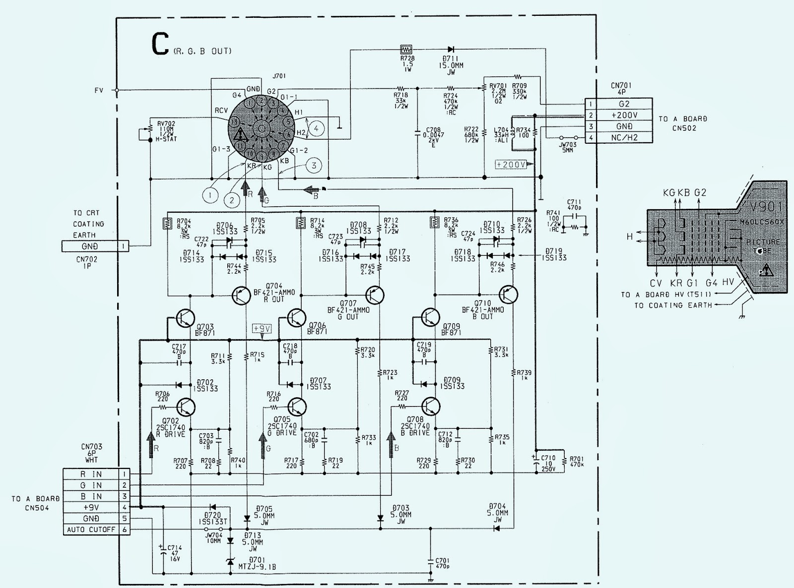 Schematic Diagram Tv Sony Trinitron: Sony kv fv trinitron