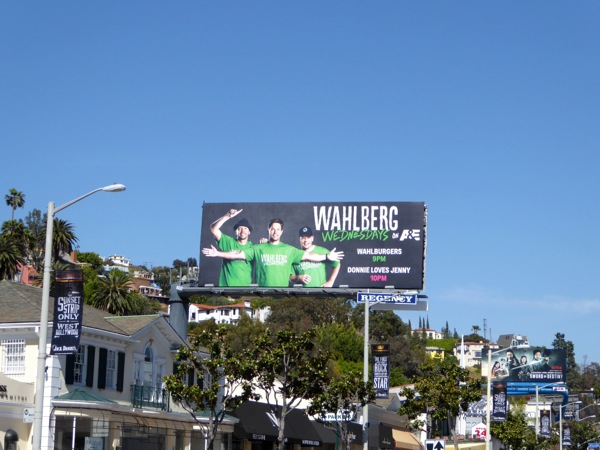 Wahlberg Wednesdays TV billboard