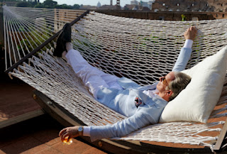 ep Gambardella in The Great Beauty, drunk and sun-bathing, Directed by Paolo Sorrentino