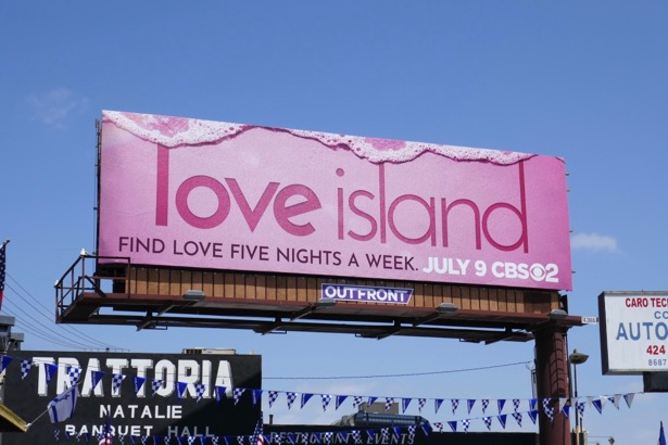 Love Island series premiere billboard