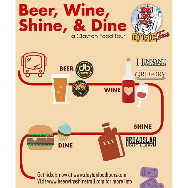 Beer, Wine, Shine and Dine Tour in Johnston  County