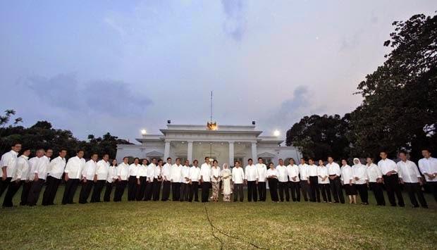susunan menteri kabinet kerja joko widodo