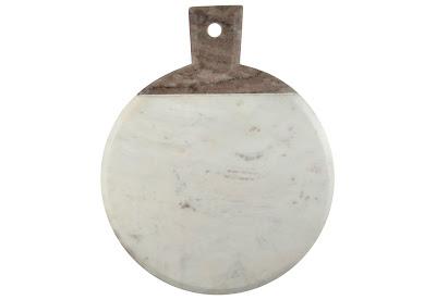 Wheel & Barrow Marble Cheeseboard with Grey Handle