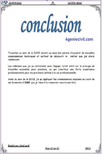 conclusion rapport de stage informatique pdf