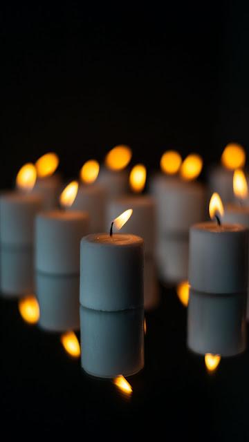 HD wallpaper candles, fire, reflection