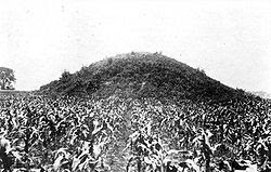 The Adena Mound in Chillicothe, Ohio-Destroyed