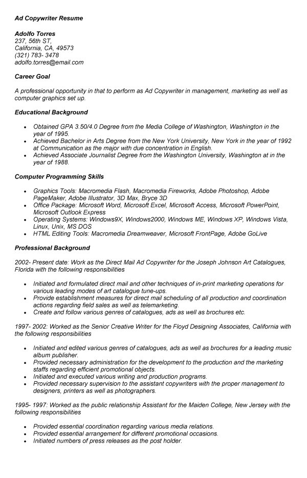 top resume  resume opening statement examples