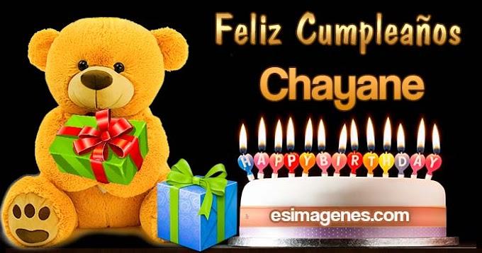 Feliz Cumpleaños Chayane