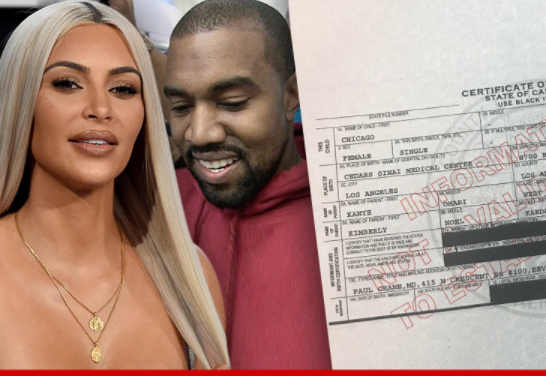 Chicago West's birth certificate revealed, surrogate not listed in the document (Photo)