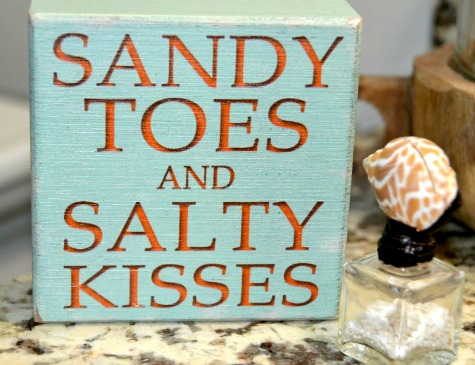 Sandy Toes Wood Block Sign