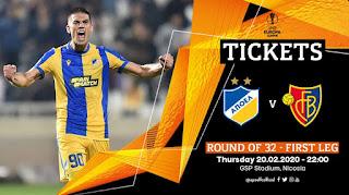 Πληροφορίες ελεύθερης προπώλησης εισιτηρίων APOEL FC - FC Basel 1893 (UEL R32-1leg)