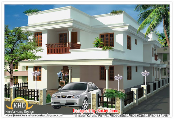 158 square meter (1700 Sq.Ft) house elevation - October 2011