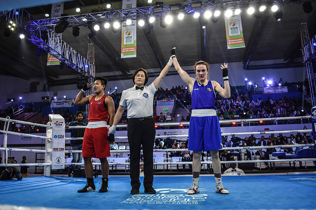 Kelly Harrington wins Gold AIBA 2018