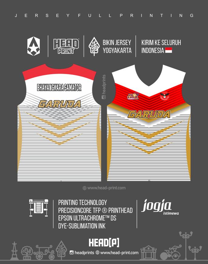 Garuda Bhayangkara Jersey Voly Volley Contoh Desain Jersey Voly - Badminton Jersey - Futsal Jersey - Headprint Yogyakarta