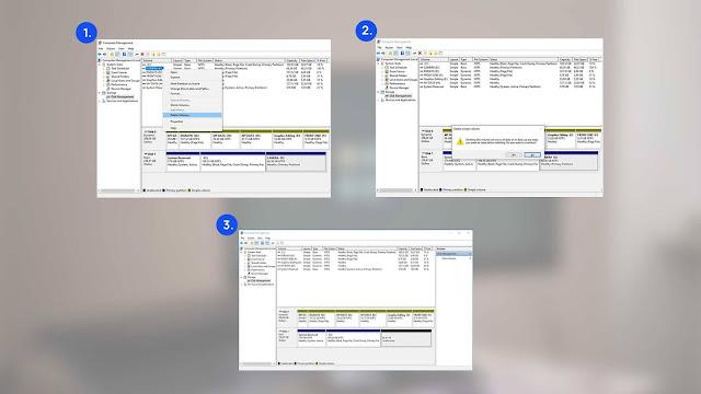 cara menambah dan mengurangi partisi windows 10
