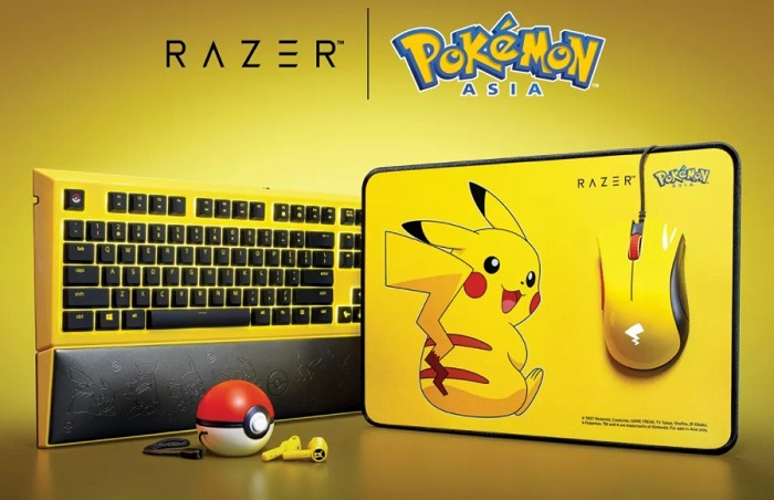 Razor Pikachu Keyboard Gaming Mouse Earbuds