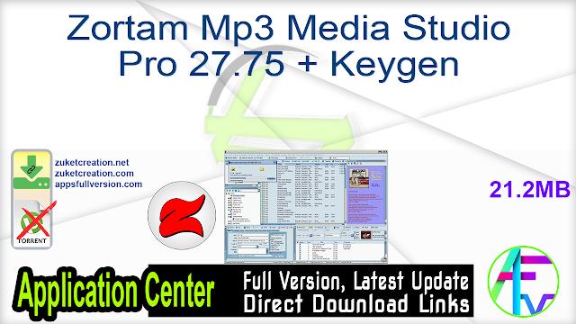 Zortam Mp3 Media Studio Pro 27.75 + Keygen